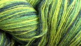 Пряжа Кауни AADE LÕNG Artistic Green Yellow (Весенняя зелень) 8/1