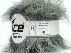 Пряжа ICE Faux Fur Grey fnt2-36769