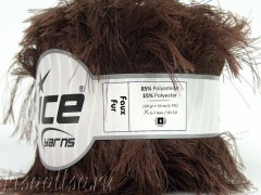 Пряжа ICE Faux Fur Brown fnt2-36770