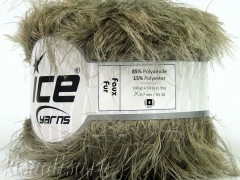Пряжа ICE Faux Fur Khaki Light fnt2-36772